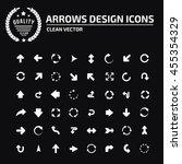 arrow sign icon set vector | Shutterstock .eps vector #455354329