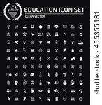 education and science icon set ... | Shutterstock .eps vector #455355181