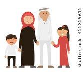happy muslim family   vector... | Shutterstock .eps vector #455359615