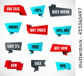vector stickers  price tag ... | Shutterstock .eps vector #455360497