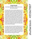 psychedelic 60s hippie ornament ... | Shutterstock .eps vector #455367007