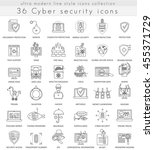 vector cyber security... | Shutterstock .eps vector #455371729