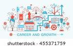 modern flat thin line design... | Shutterstock .eps vector #455371759