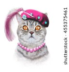 cat illustration.children... | Shutterstock . vector #455375461