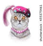 cat illustration.children...   Shutterstock . vector #455375461