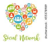 social media concept. social... | Shutterstock .eps vector #455378989
