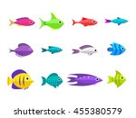 cartoon fish collection... | Shutterstock .eps vector #455380579