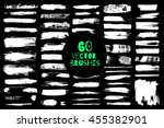 60 different grunge vector... | Shutterstock .eps vector #455382901