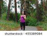 woman jogging. young girl... | Shutterstock . vector #455389084