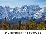 Rocky Mountain Peaks Seen Over...