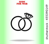 wedding rings web icon. black... | Shutterstock .eps vector #455390149