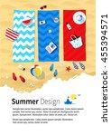 summer vacation design with... | Shutterstock .eps vector #455394571