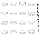 set of carnival masks  vector... | Shutterstock .eps vector #455395927