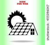 solar collector icon vector web ... | Shutterstock .eps vector #455396047