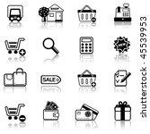 shopping 2 icon set | Shutterstock .eps vector #45539953