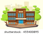 school building . cartoon and... | Shutterstock .eps vector #455400895