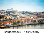 old town of porto and river ... | Shutterstock . vector #455405287