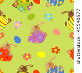 vector seamless easter... | Shutterstock .eps vector #45540577