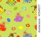 vector seamless easter... | Shutterstock .eps vector #45540577