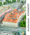 Small photo of High dynamic range HDR Aeria view of the city of Berlin in Germany