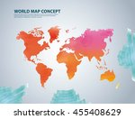 world and map concept... | Shutterstock .eps vector #455408629