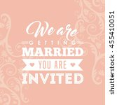 invitation and save the date... | Shutterstock .eps vector #455410051