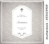 invitation and save the date... | Shutterstock .eps vector #455419909