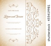 invitation and save the date... | Shutterstock .eps vector #455419981
