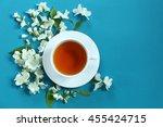 Cup Of Tea With Jasmine Flower...