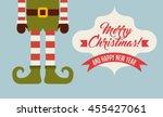 merry christmas concept... | Shutterstock .eps vector #455427061