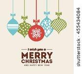 merry christmas concept... | Shutterstock .eps vector #455434084