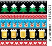 christmas jumper or sweater... | Shutterstock .eps vector #455437375