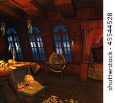 pirate captains cabin | Shutterstock . vector #45544528