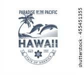 hawaii paradise of the pacific  ... | Shutterstock .eps vector #455451355