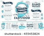 fast food menu design and fast... | Shutterstock .eps vector #455453824
