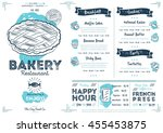 bakery menu design and bakery... | Shutterstock .eps vector #455453875