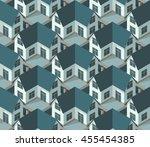 suburbia   seamless vector... | Shutterstock .eps vector #455454385