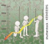 financial improvement graph...   Shutterstock . vector #455455591