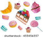 watercolor illustration of... | Shutterstock . vector #455456557