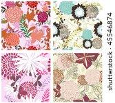 seamless vector floral... | Shutterstock .eps vector #45546874