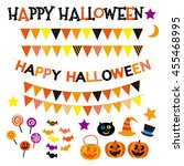 halloween  icon set | Shutterstock . vector #455468995