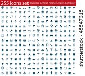 biggest collection of different ... | Shutterstock . vector #45547315