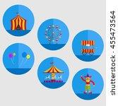 carnival cartoon object... | Shutterstock .eps vector #455473564