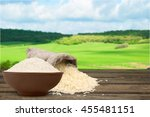 rice on natural background. | Shutterstock . vector #455481151