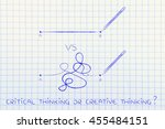 different types of lines to... | Shutterstock . vector #455484151
