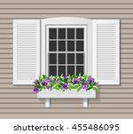 shutter window vector...   Shutterstock .eps vector #455486095