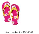 Pink Daisy Flip Flops With Cop...