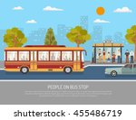 city public transport service... | Shutterstock .eps vector #455486719