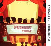 theatre retro cartoon banner... | Shutterstock .eps vector #455490871