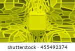 3d render abstract  surface.... | Shutterstock . vector #455492374